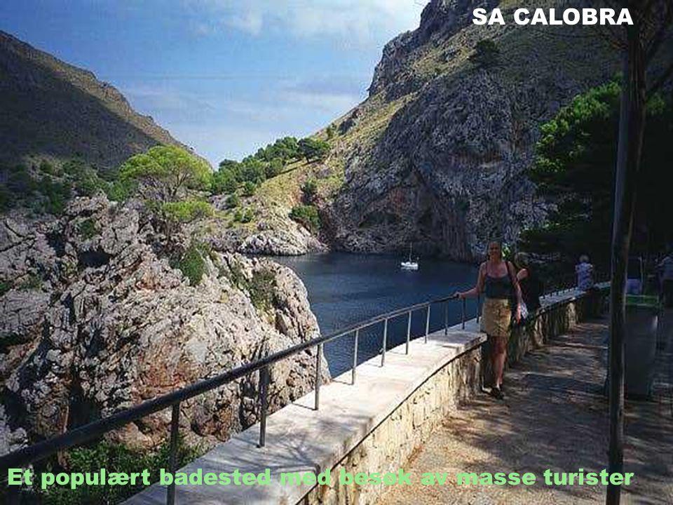 SA CALOBRA Et populært badested med besøk av masse turister