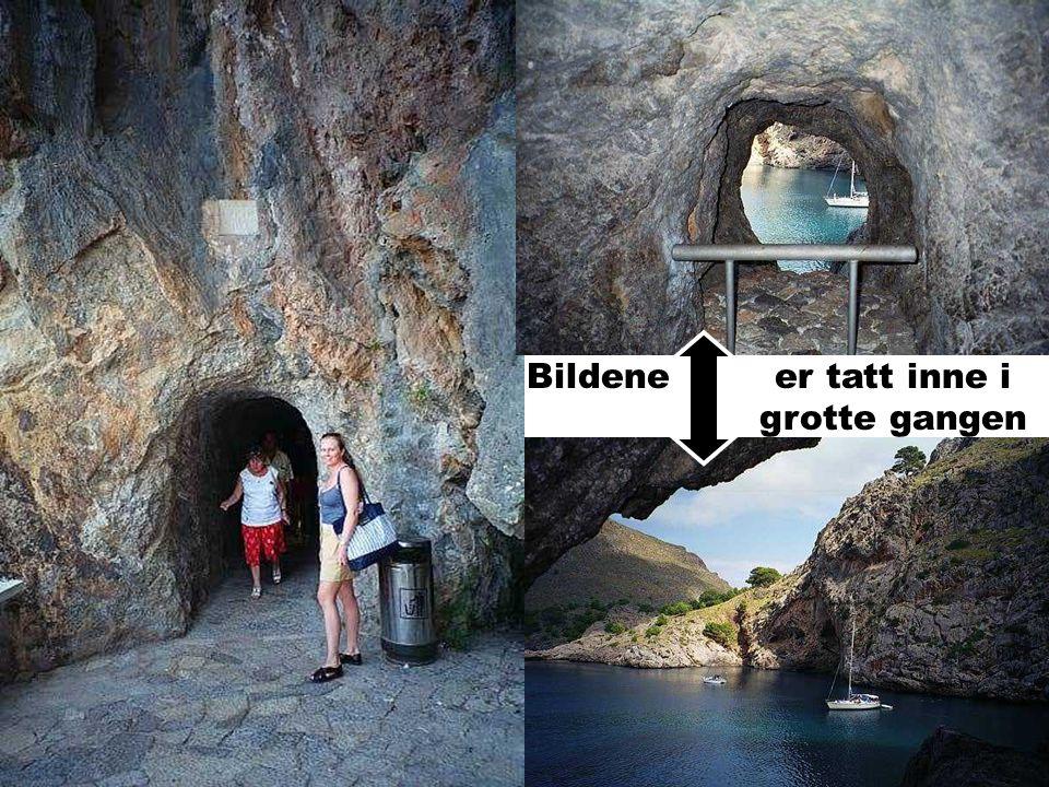 Bildene er tatt inne i grotte gangen