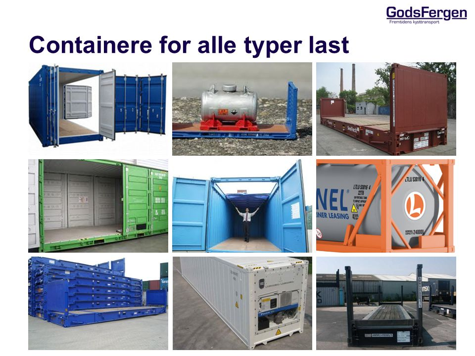Containere for alle typer last