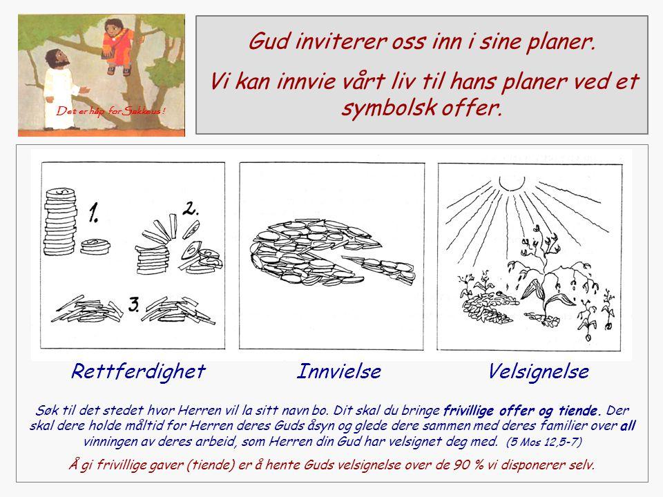 Gud inviterer oss inn i sine planer.Vi kan innvie vårt liv til hans planer ved et symbolsk offer.
