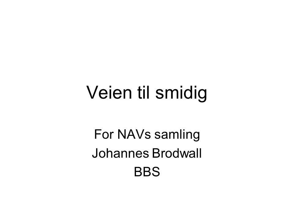 Veien til smidig For NAVs samling Johannes Brodwall BBS