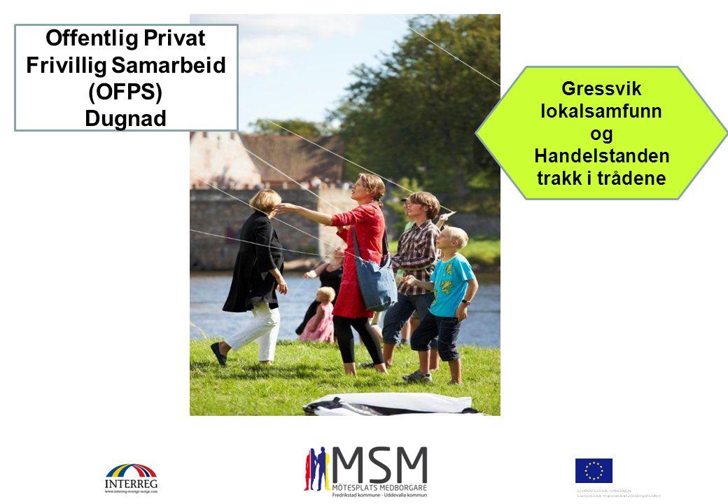 Gressvik lokalsamfunn og Handelstanden trakk i trådene Offentlig Privat Frivillig Samarbeid (OFPS) Dugnad