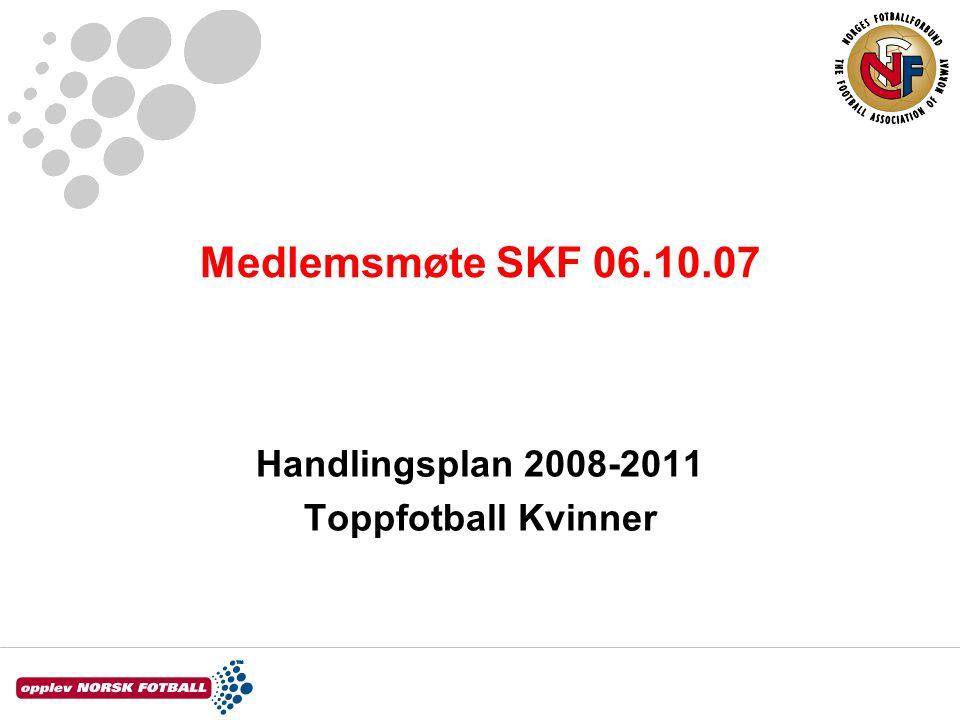 Medlemsmøte SKF 06.10.07 Handlingsplan 2008-2011 Toppfotball Kvinner