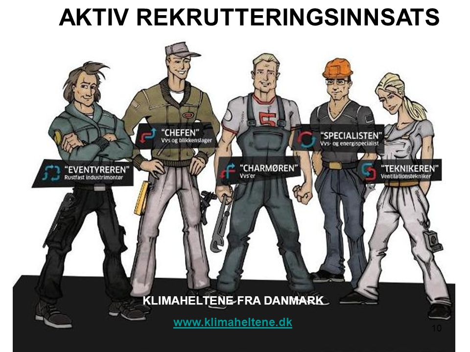 AKTIV REKRUTTERINGSINNSATS KLIMAHELTENE FRA DANMARK www.klimaheltene.dk 10