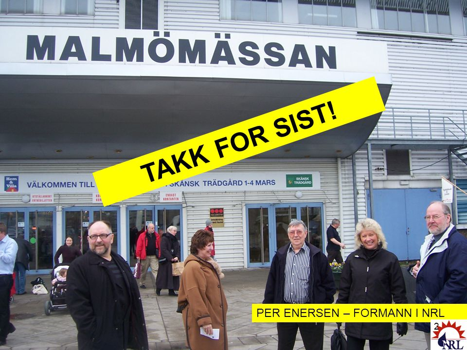 TAKK FOR SIST! PER ENERSEN – FORMANN I NRL 2