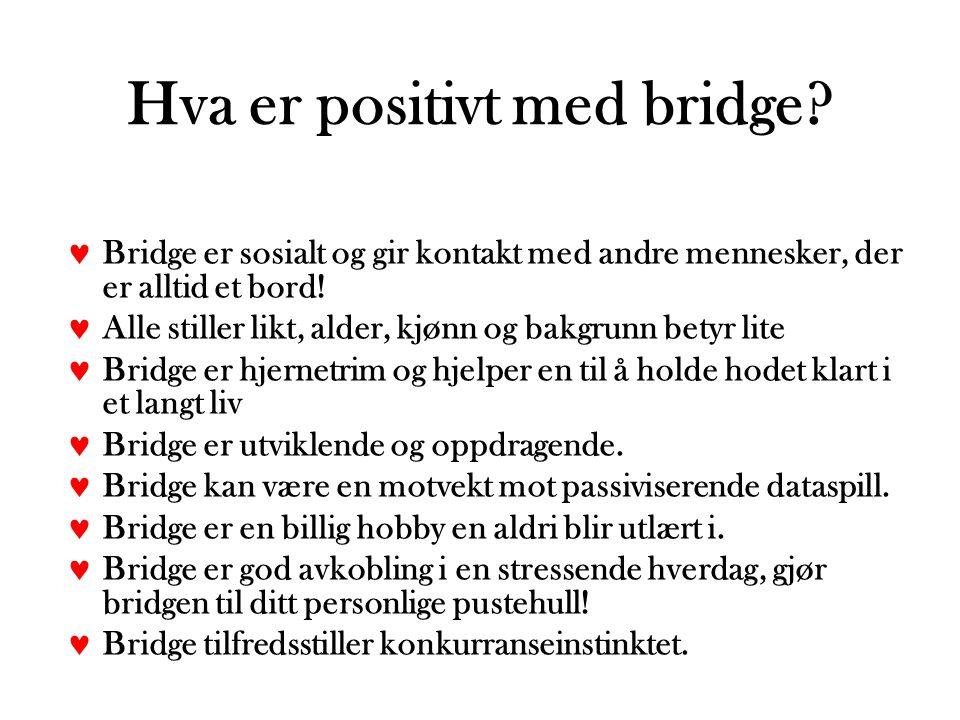 Hva er positivt med bridge.