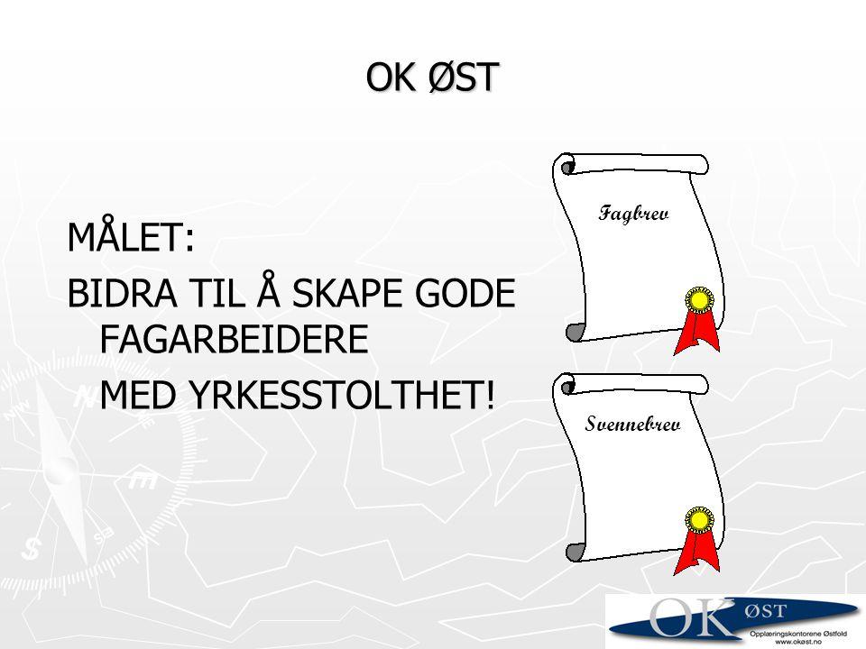 OK ØST MÅLET: BIDRA TIL Å SKAPE GODE FAGARBEIDERE MED YRKESSTOLTHET! Fagbrev Svennebrev