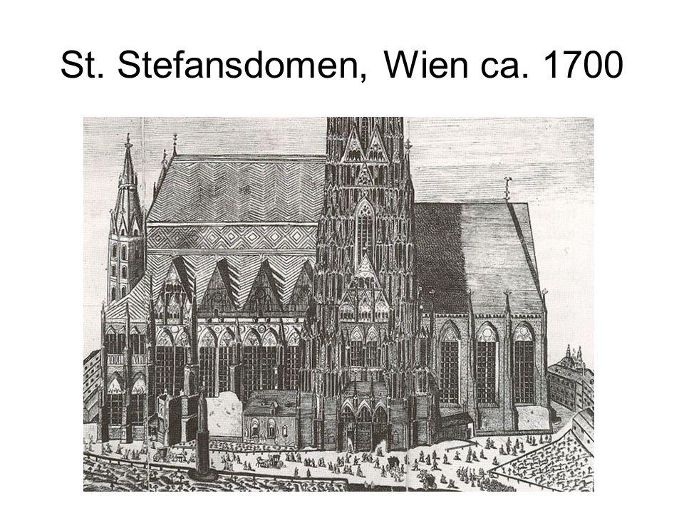 St. Stefansdomen, Wien ca. 1700