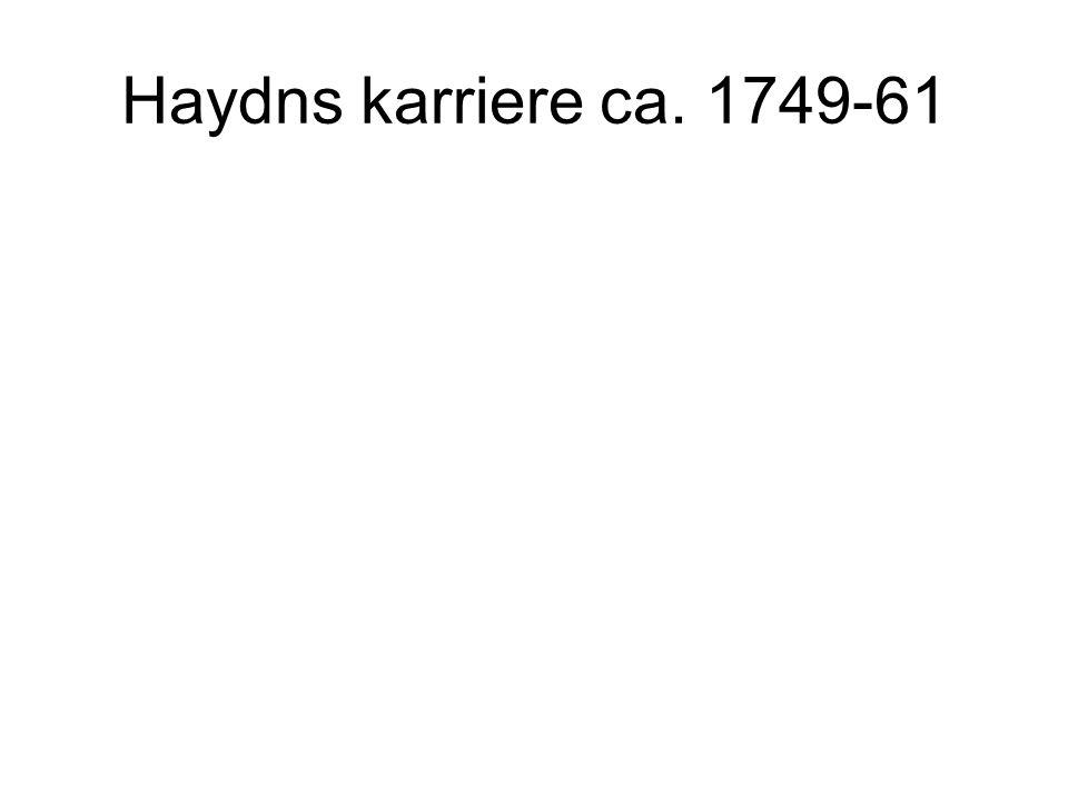 Haydns karriere ca. 1749-61