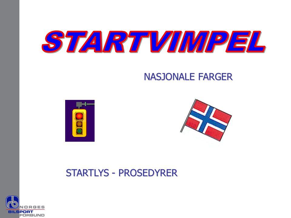 NASJONALE FARGER STARTLYS - PROSEDYRER