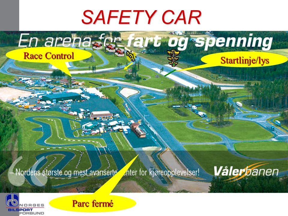 Startlinje/lys SAFETY CAR Parc fermé Race Control