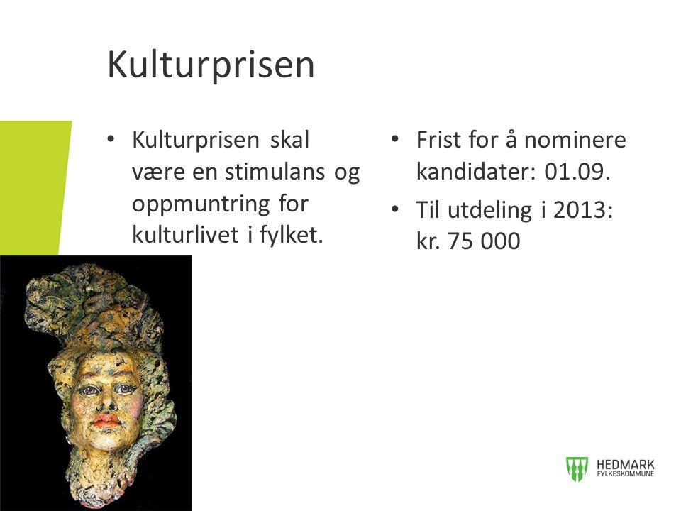 Kunstnerstipend • Arbeidsstipend og materialstipend kan tildeles profesjonelle kunstnere som i hovedsak bor og har sitt virke i Hedmark fylke.