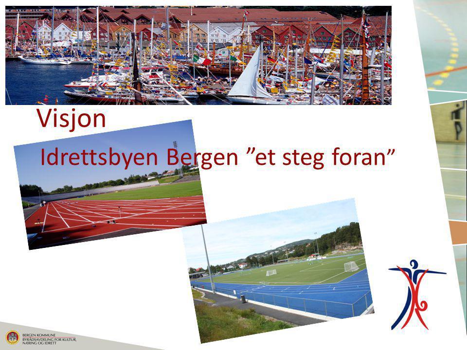 """Visjon Idrettsbyen Bergen """"et steg foran """""""