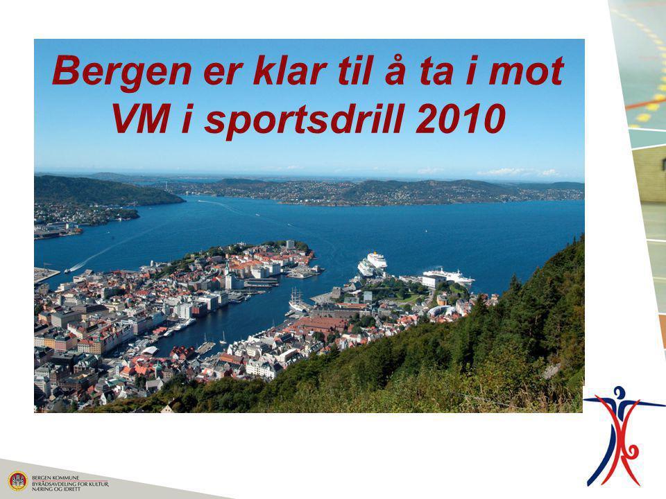 Bergen er klar til å ta i mot VM i sportsdrill 2010