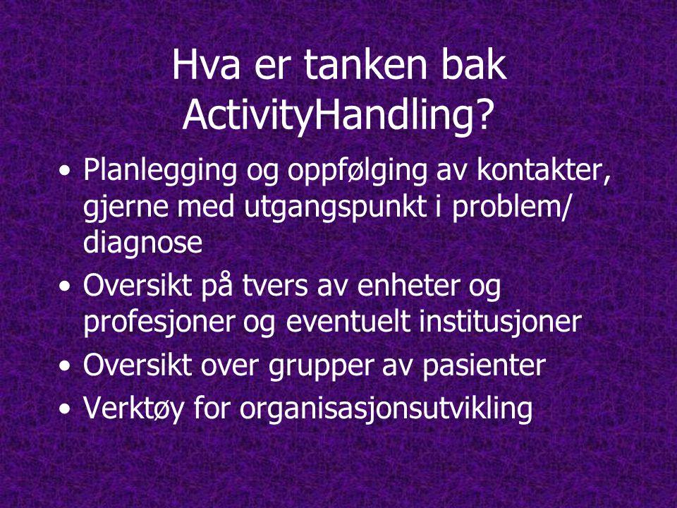 Hva er tanken bak ActivityHandling.