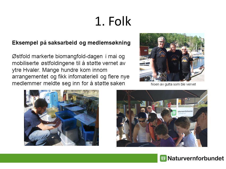 1. Folk Eksempel på saksarbeid og medlemsøkning Østfold markerte biomangfold-dagen i mai og mobiliserte østfoldingene til å støtte vernet av ytre Hval