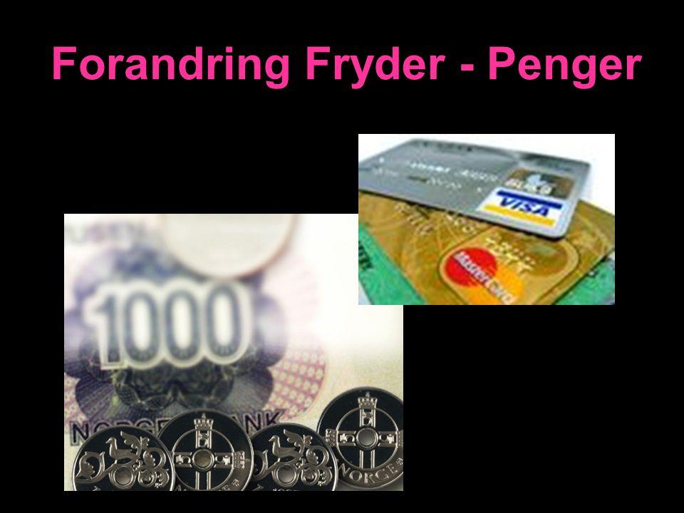 Penger – Få & Gi Ap.gj.