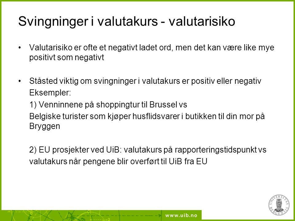 Hvorfor fokus på EU-prosjekter og valutakurs ved UiB.