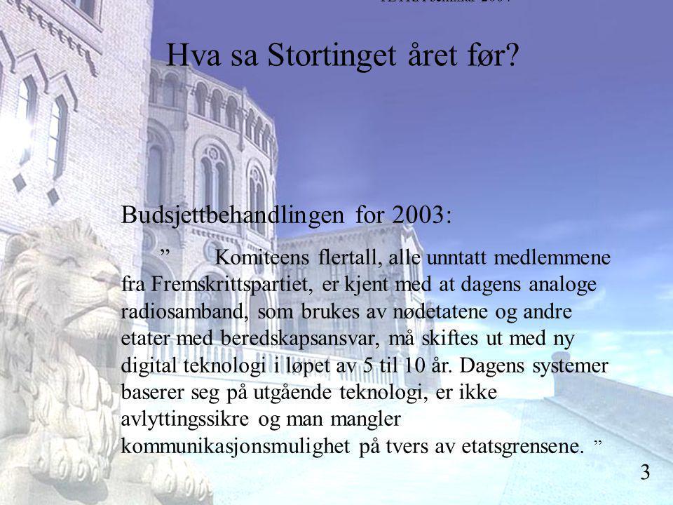 Stortingsrepresentant Einar Holstad, KrF 3 Hva sa Stortinget året før.