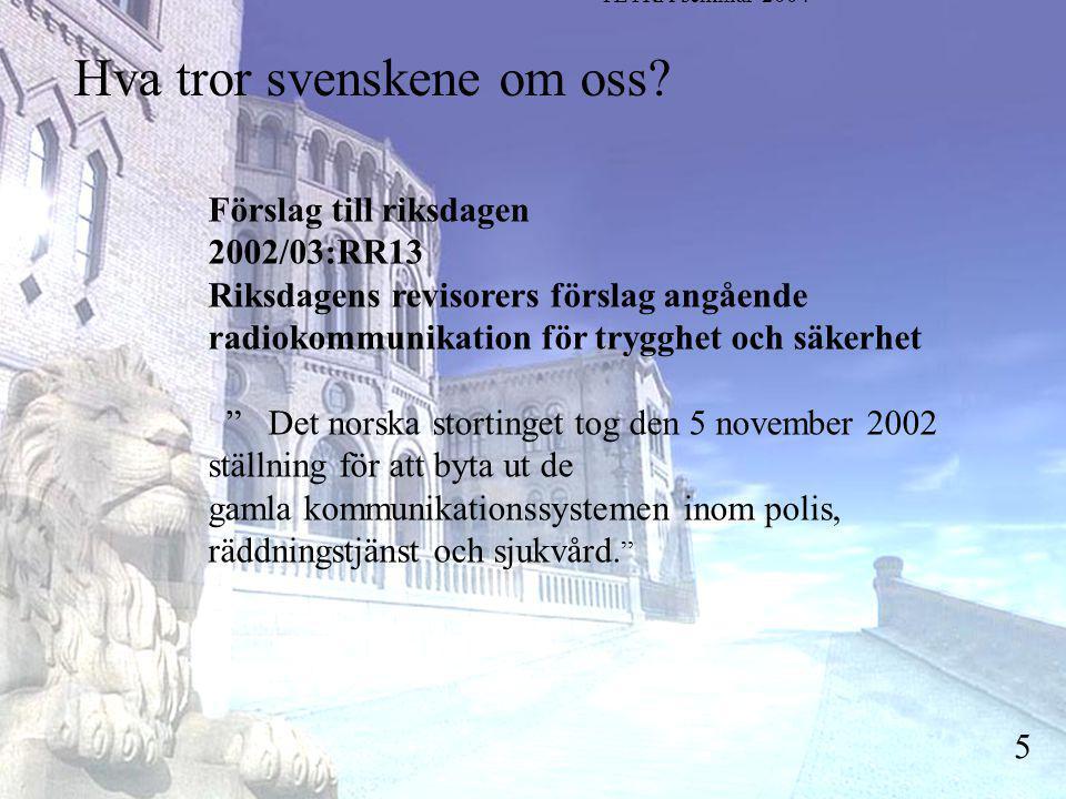 Stortingsrepresentant Einar Holstad, KrF 5 Hva tror svenskene om oss.