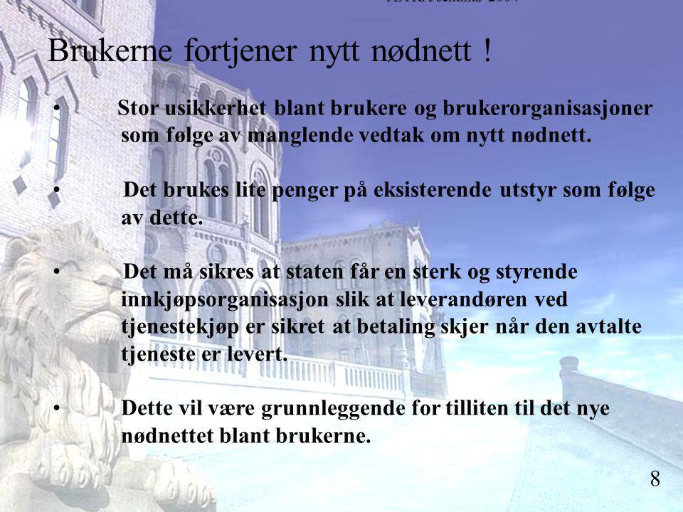 Stortingsrepresentant Einar Holstad, KrF 8 Brukerne fortjener nytt nødnett .