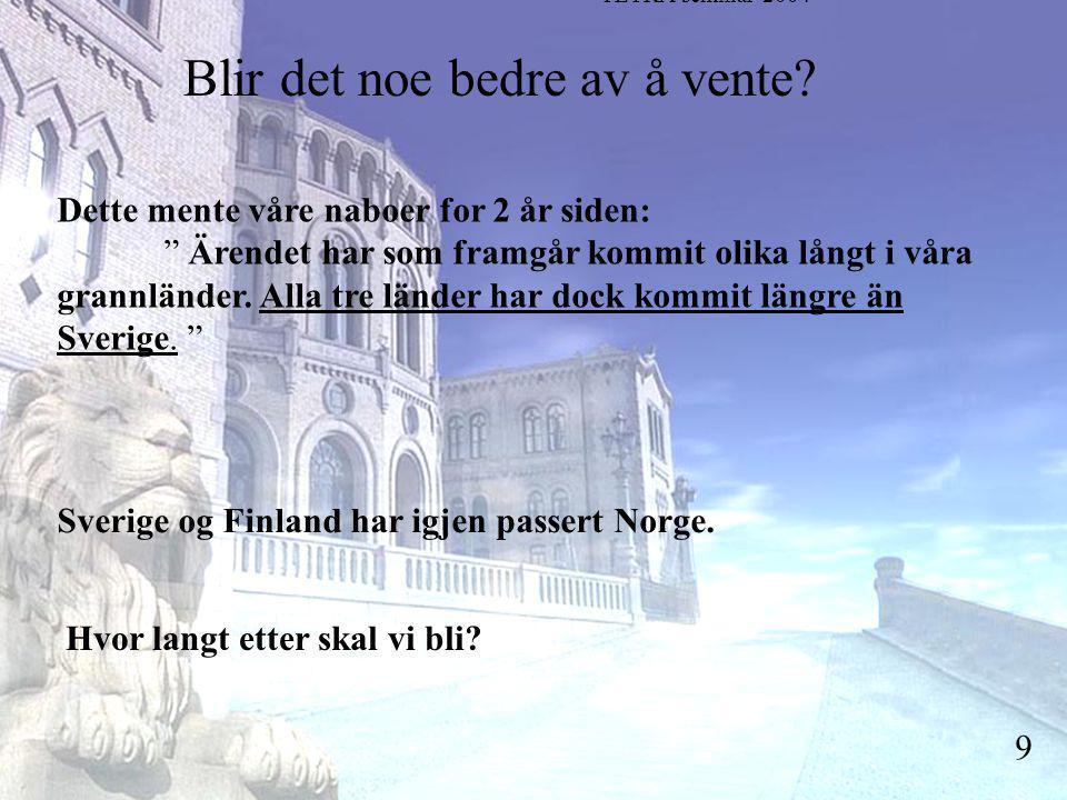 Stortingsrepresentant Einar Holstad, KrF 9 Blir det noe bedre av å vente.