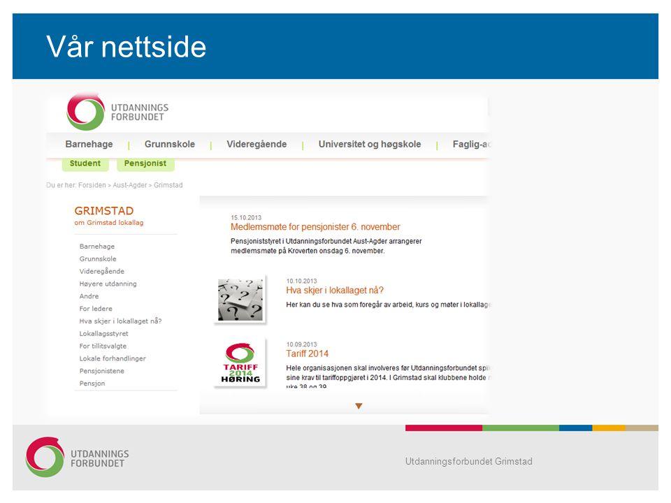 Vår nettside Utdanningsforbundet Grimstad