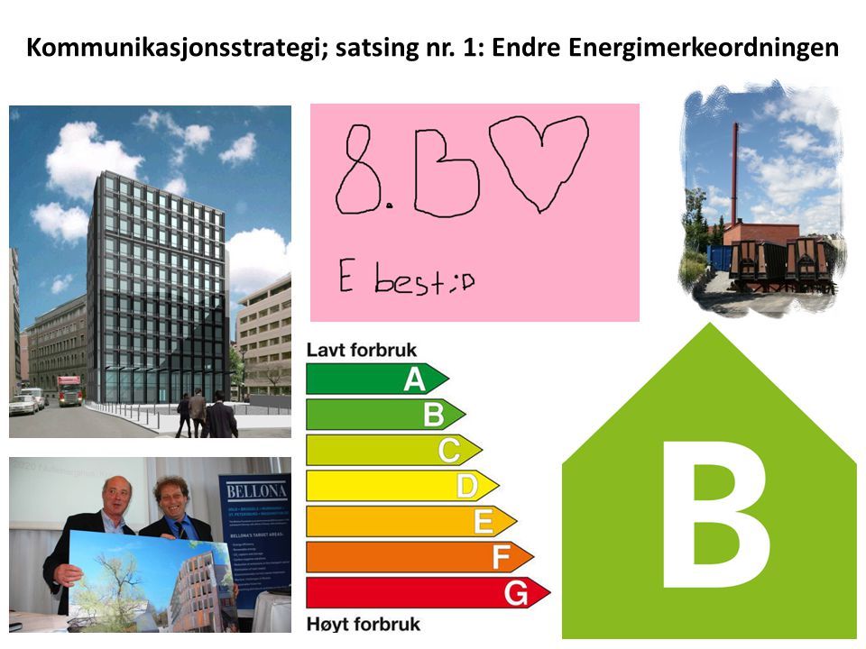 Kommunikasjonsstrategi; satsing nr. 1: Endre Energimerkeordningen
