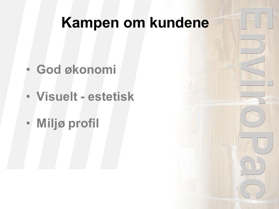 Kampen om kundene •God økonomi •Visuelt - estetisk •Miljø profil