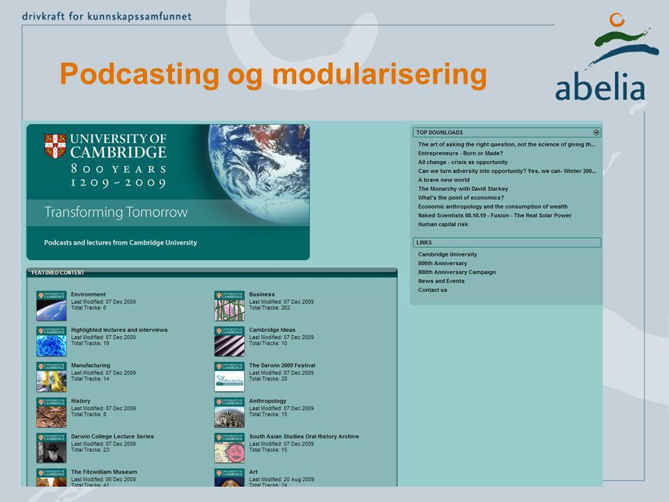 Podcasting og modularisering