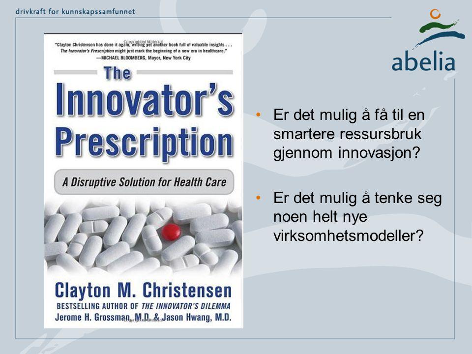 •Er det mulig å få til en smartere ressursbruk gjennom innovasjon? •Er det mulig å tenke seg noen helt nye virksomhetsmodeller?