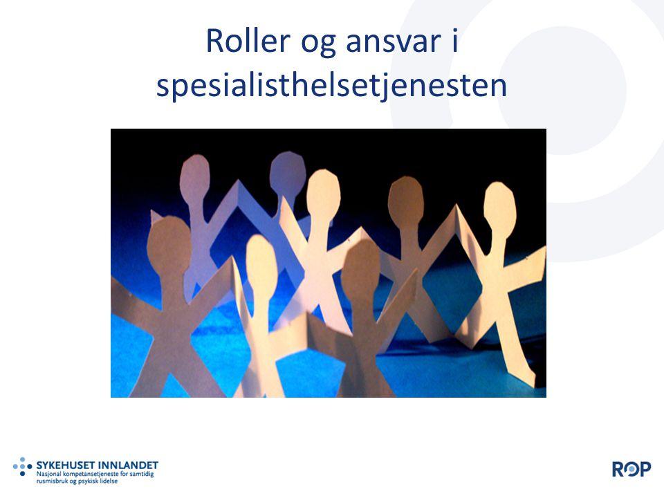 Roller og ansvar i spesialisthelsetjenesten