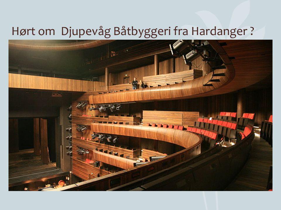 Hørt om Djupevåg Båtbyggeri fra Hardanger ?
