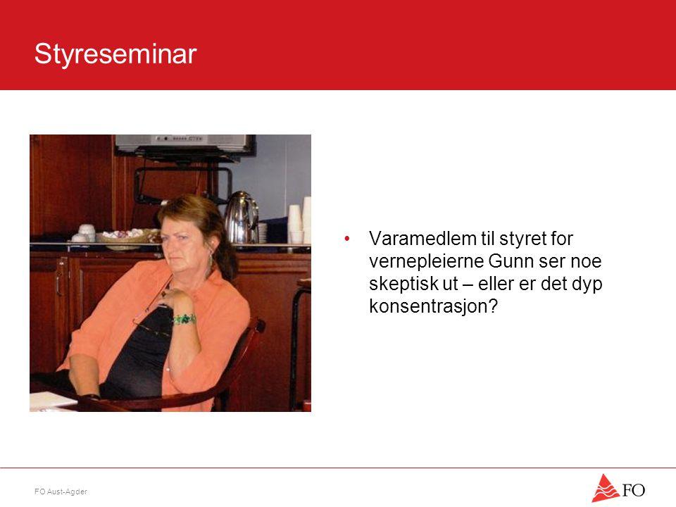 FO Aust-Agder Styreseminar •Innseiling mot Kristiansand og alle var enig om at det var et nyttig seminar ( det må man jo mene når man har brukt 2 dager og en del penger )…… •Og dermed var planene lagt for førstkommende års aktivitet.