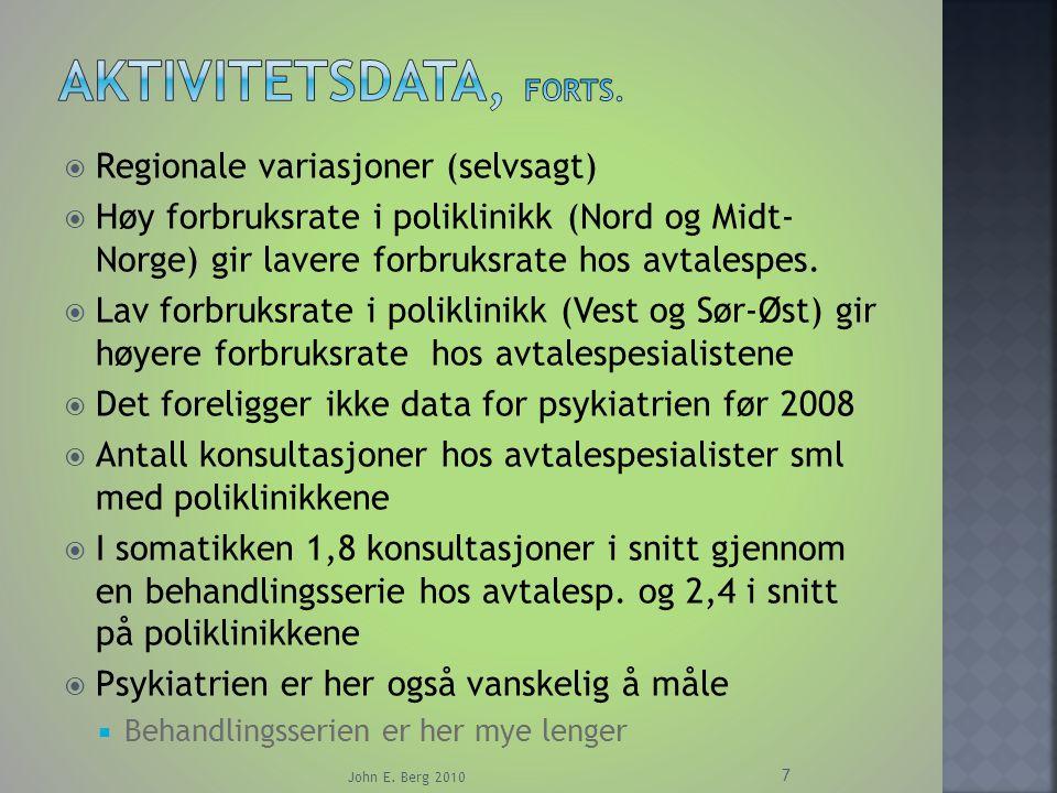  Helsevesenet som eksempel John E. Berg 2010 18 Staten/RHF=PRINSIPALEN Pasienten Legen=AGENTEN