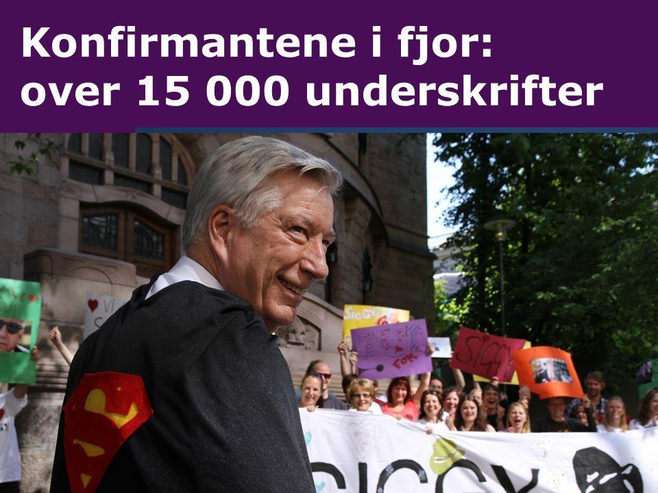 Konfirmantene i fjor: over 15 000 underskrifter