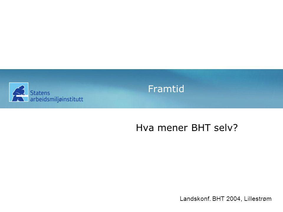 Framtid Hva mener BHT selv Landskonf. BHT 2004, Lillestrøm