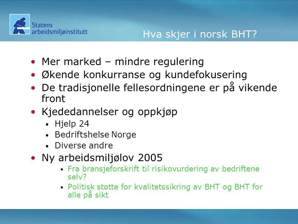 Hva skjer i norsk BHT.