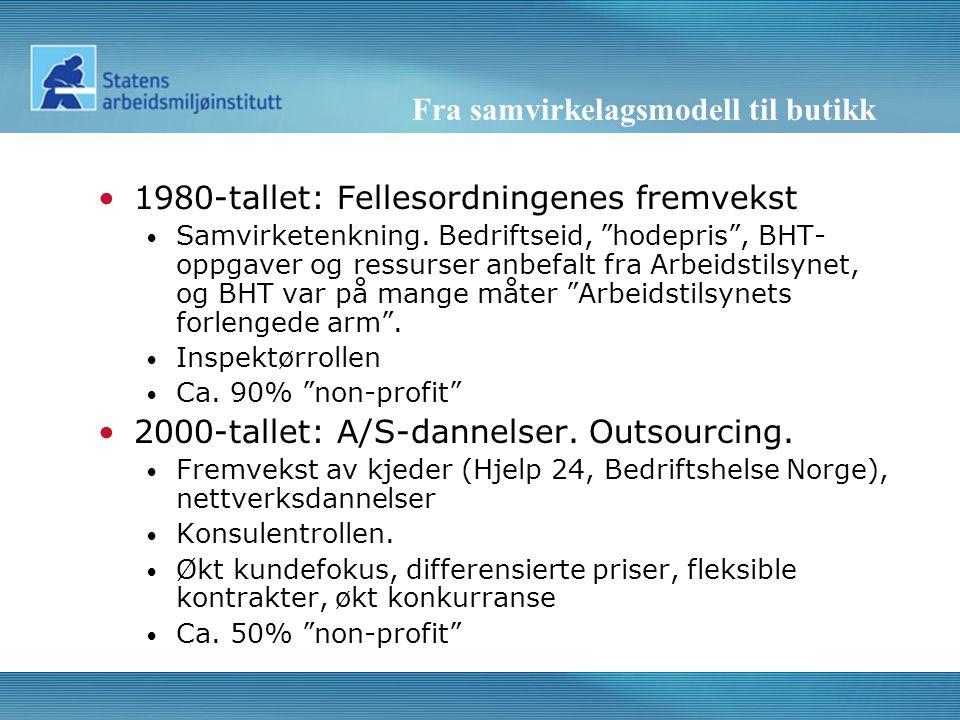 Fra samvirkelagsmodell til butikk •1980-tallet: Fellesordningenes fremvekst • Samvirketenkning.