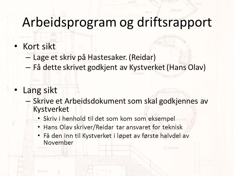 Arbeidsprogram og driftsrapport • Kort sikt – Lage et skriv på Hastesaker.