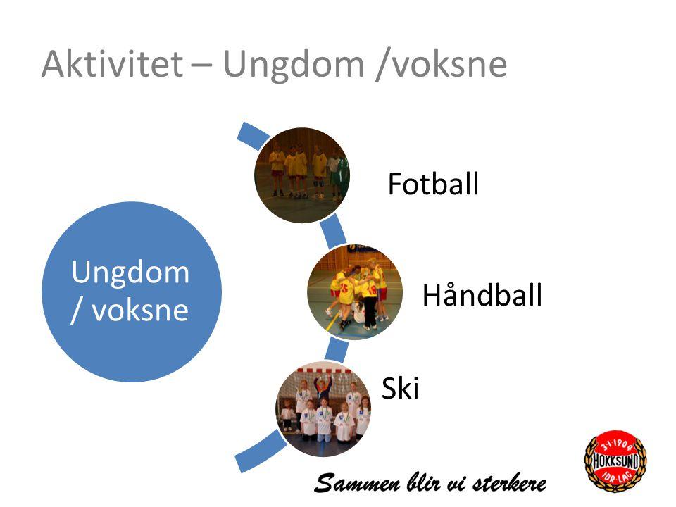 Aktivitet – Ungdom /voksne Ungdom / voksne Fotball Håndball Ski