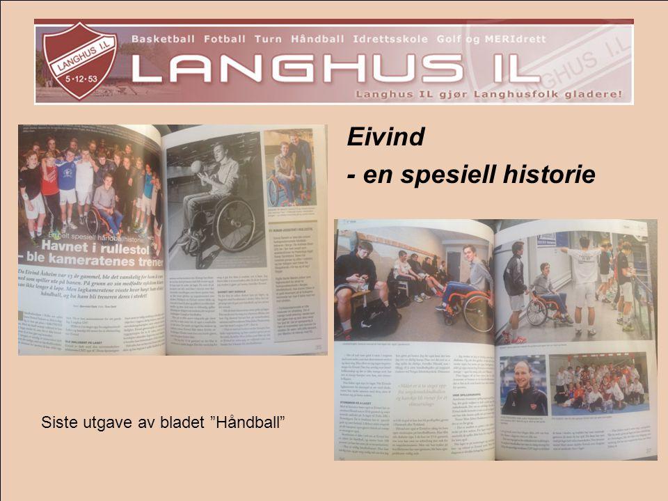 """Eivind - en spesiell historie Siste utgave av bladet """"Håndball"""""""