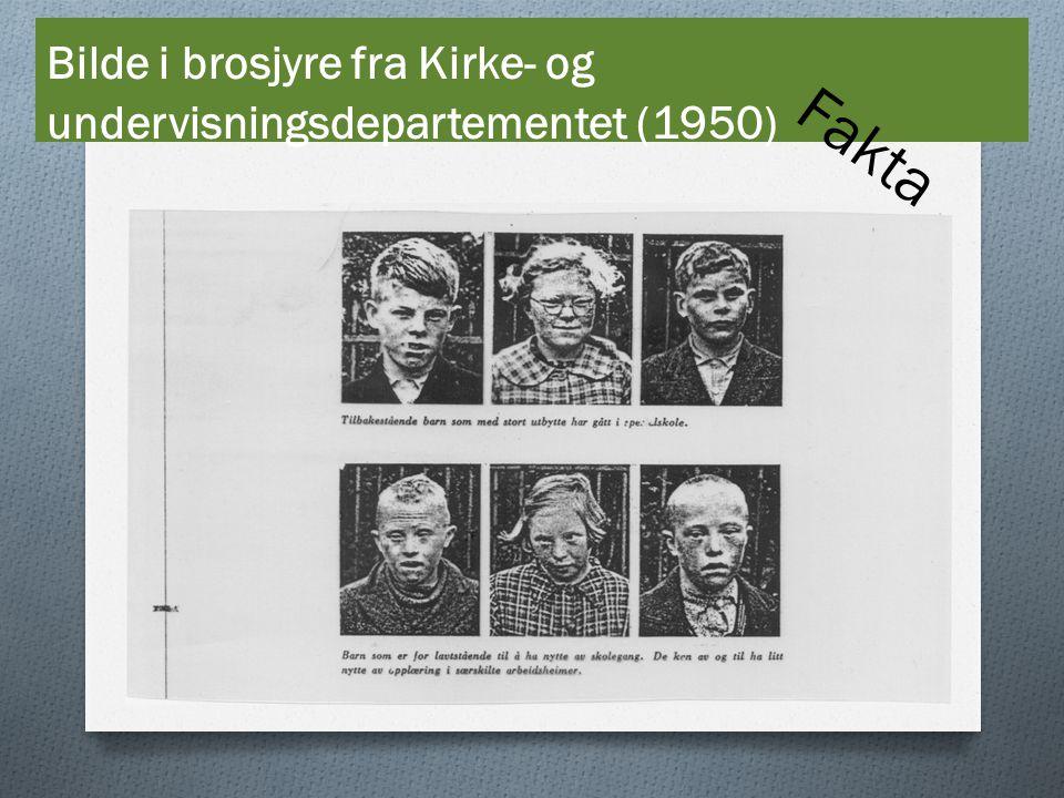 Bilde i brosjyre fra Kirke- og undervisningsdepartementet (1950) Fakta