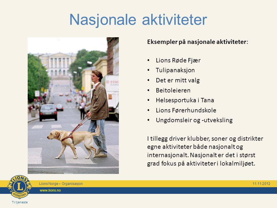Til tjeneste Lions Norge – Organisasjon 11.11.2012 www.lions.no Katastrofeberedskap Norske Lionsklubbers Katastrofe- beredskap yter hjelp ved katastrofer og andre nødsituasjoner i Norge eller utlandet.
