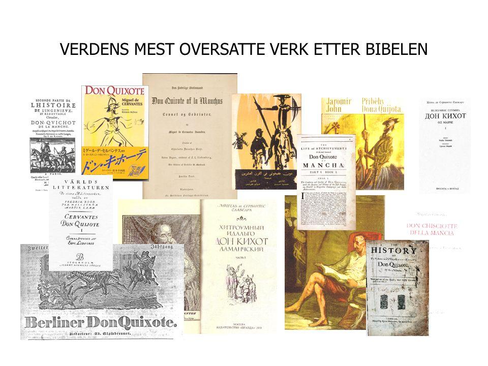 VERDENS MEST OVERSATTE VERK ETTER BIBELEN