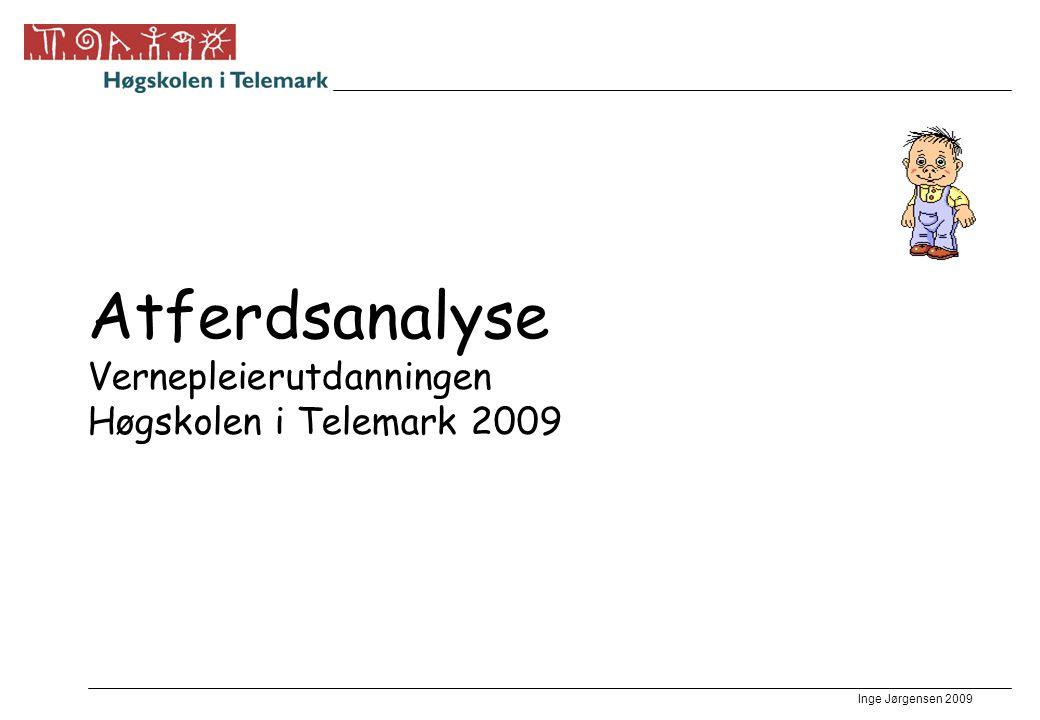 Inge Jørgensen 2009 Atferdsanalyse Vernepleierutdanningen Høgskolen i Telemark 2009