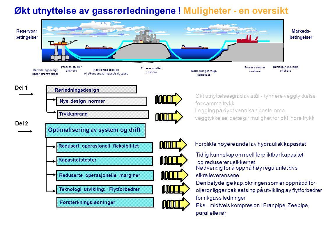 Rørledningsdesign olje/kondensat/rikgass/salgsgass Rørledningsdesign salgsgass Prosess studier offshore Prosess studier onshore Prosess studier onshor