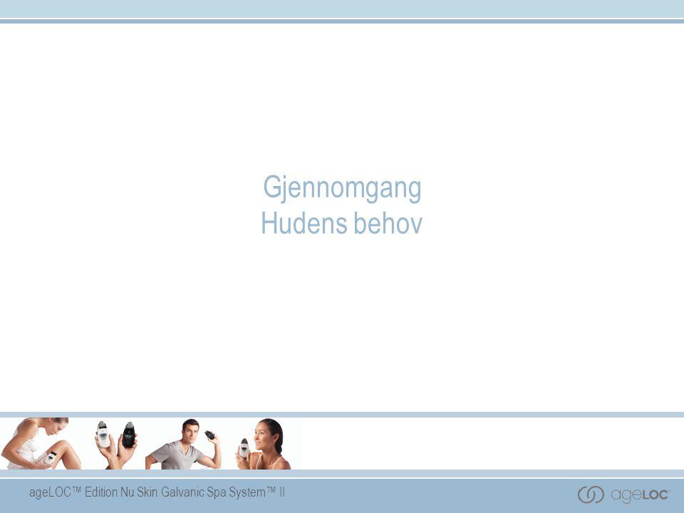 ageLOC™ Edition Nu Skin Galvanic Spa System™ II Gjennomgang Hudens behov
