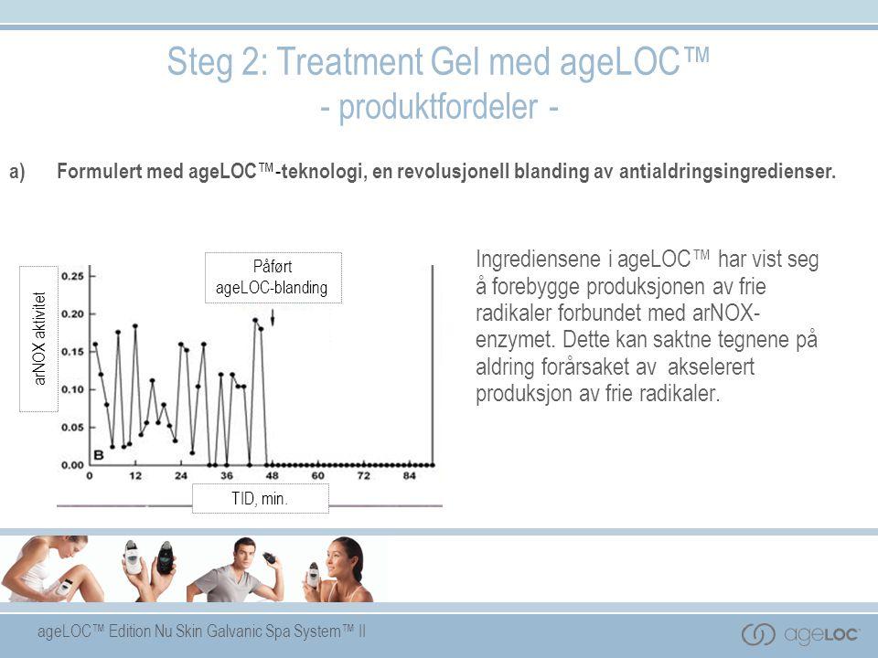 ageLOC™ Edition Nu Skin Galvanic Spa System™ II Ingrediensene i ageLOC™ har vist seg å forebygge produksjonen av frie radikaler forbundet med arNOX- e