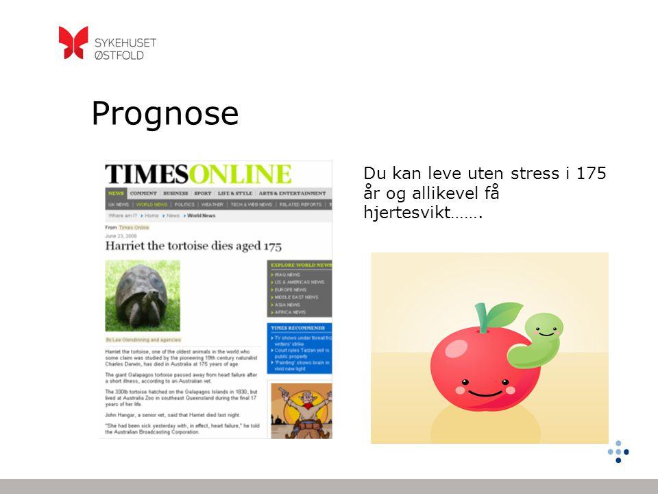 Prognose Du kan leve uten stress i 175 år og allikevel få hjertesvikt…….